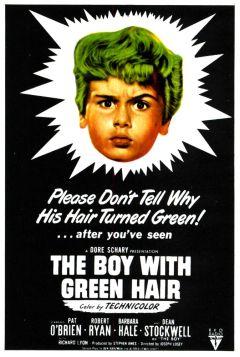 Мальчик с зелеными волосами